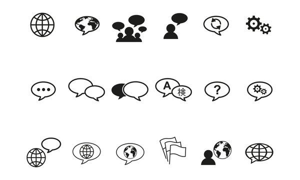 Iconset Sprachwahl