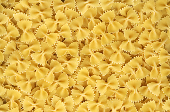 Some farfalle pasta as background pattern