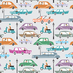 Traffic seamless pattern