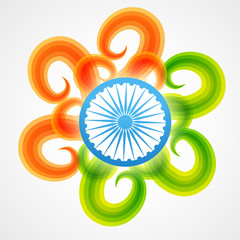 creative indian flag design