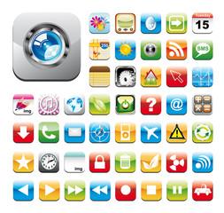 Glossy Utility Icon Set