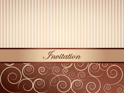 Brązowe zaproszenie