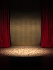 Prunkvolle Theater Show Bühne Spotlight
