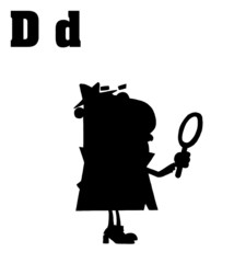 Silhouetted Detective With Letters D
