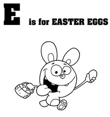 E Is For Easter Eggs Text