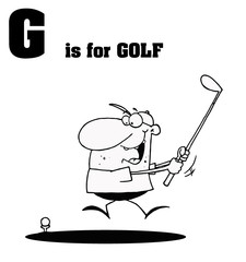 G Is For Golf Text