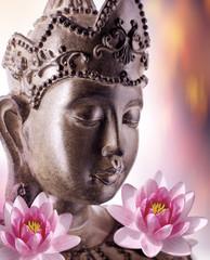 Fototapete - Bouddhisme et bien-être