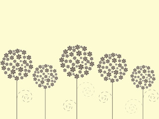 Floral background with flowers