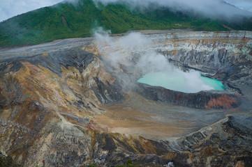 Poas volcano fumes