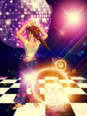 Girl on dance floor