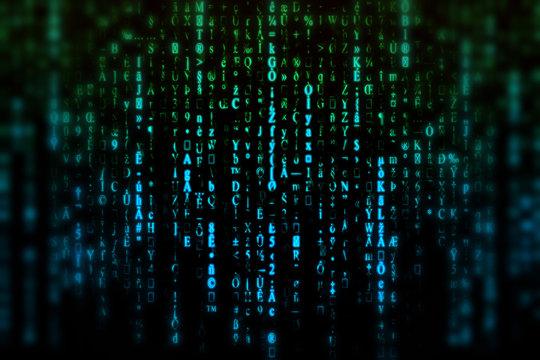 Matrix, blur background