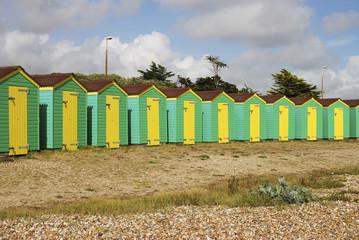 Beach huts. Littlehampton. Sussex. UK