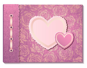 Photo album with hearts
