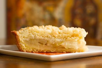 Scramble de manzana, torta, pasteleria, postre.