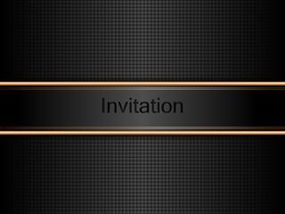 zaproszenie złotoczarne