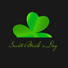 Saint Patrick`s day background vector illustration