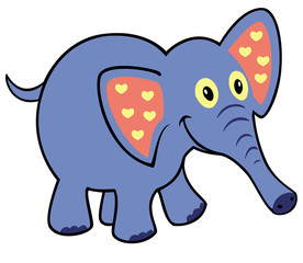 simple childish elephant