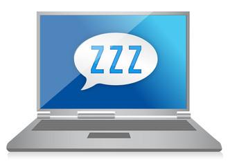 sleeping computer graphic