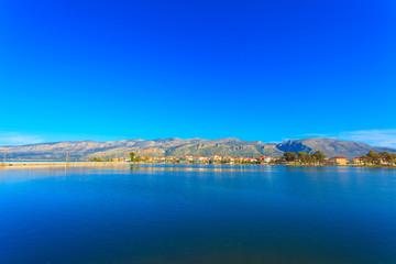 Greece, Beautifull sea lake view in Aitoliko in Central Greece