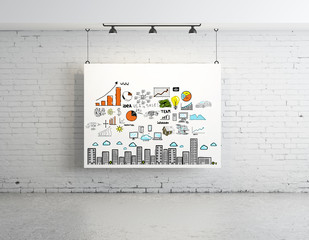 business concept on poster