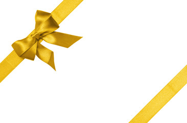 gold ribbons with bow with tails