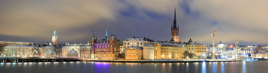 Panorama Cityscape of Gamla Stan Stockholm Sweden