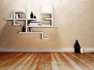 creative shelves on the wall,
