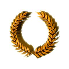3D Gold Laurel Wreath