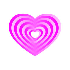 Pink layered heart Vector