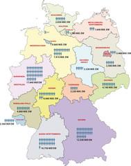 Wall Mural - Deutschland Bundesländer Einwohner