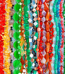Lot of colored beads from different minerals and stone