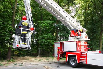 Obraz straż pożarna w akcji - fototapety do salonu