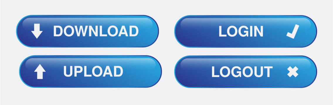 Blue and silver internet buttons Vector