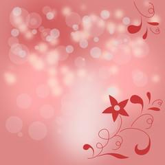 Hintergrund mit Bokeh und floralem Ornament
