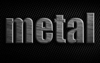 Scratched metal