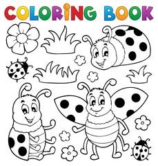 Coloring book ladybug theme 1