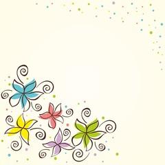 Floral background. Vectoe iilustration.