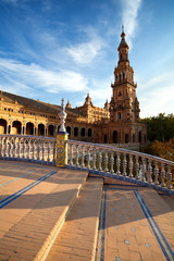 Fototapete - tower at Plaza de Espana, Sevilla
