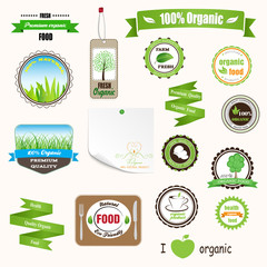 Organic labels, logos and stickers