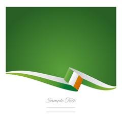 Irish flag green background vector