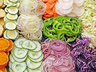 gemüse für salat