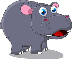 Illustration Of Hippo Cartoon