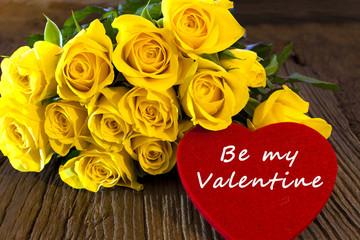 """Großes Herz """"Be my Valentine"""""""