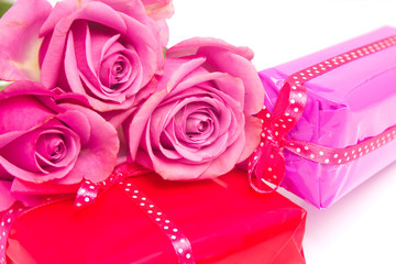 Valentine gifts and roses