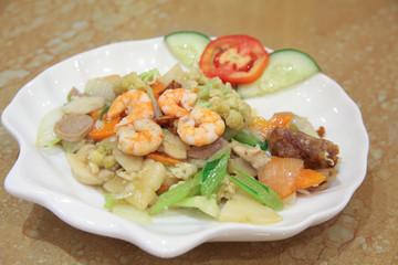 asian mixed food named capcay