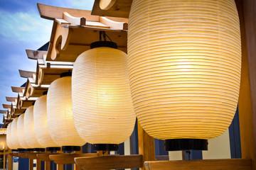 Row of Japanese lanterns
