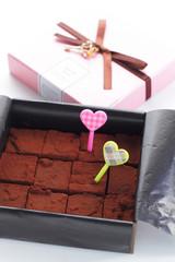 バレンタインデーの生チョコレート
