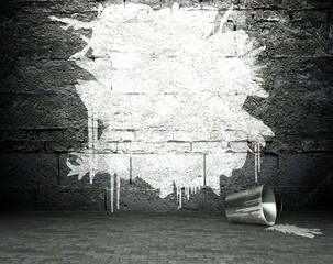 In de dag Graffiti Graffiti wall with frame, street background