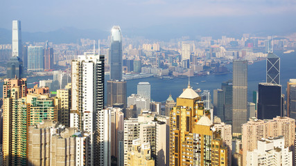 Wall Mural - Hong Kong skyline.