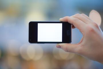 Smartphone mit freier Fläche (total)